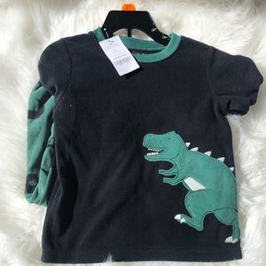🦖CARTER'S 🦖| DINOSAUR PJ FLEECE SET NWT 2T